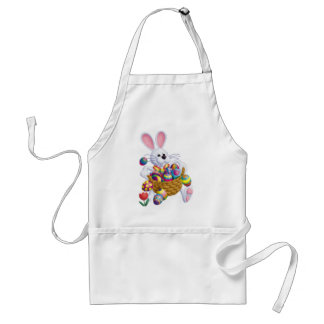 Easter Bunny with Basket of Eggs Standard Apron
