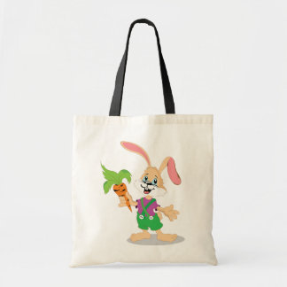 Easter Bunny With Carrot Tote Bag