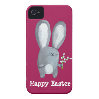 Easter Bunny with catkins iPhone 4 Case-Mate Cases