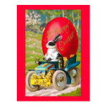 Easter Bunny With Cool Car Postcard