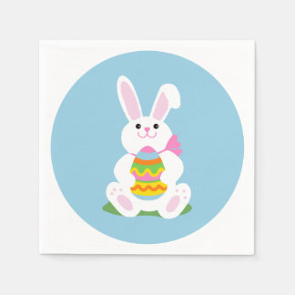 Easter Bunny with Egg | Luncheon Paper Napkin