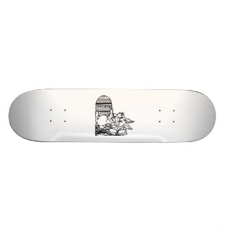Easter Bunny with Egg Custom Skateboard