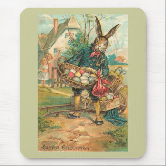 Easter Bunny With Eggs For Children Vintage Mouse Pad