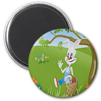 Easter Bunny with Eggs Refrigerator Magnets