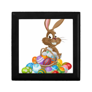 Easter Bunny with Eggs Small Square Gift Box