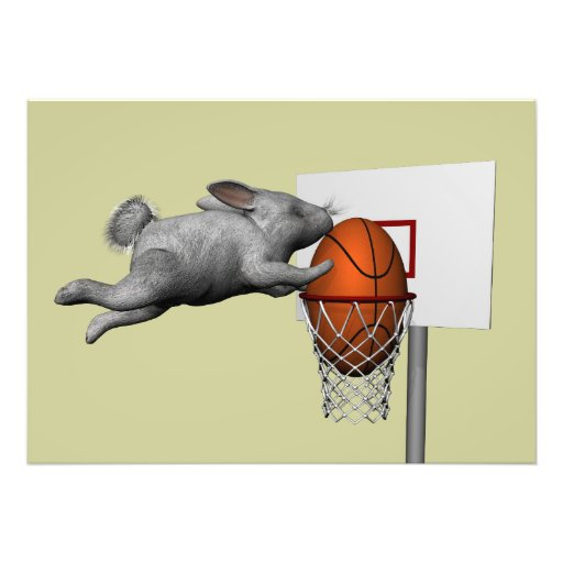 Easter Bunny's Perfect Slam Dunk Art Photo