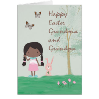 Grandpa easter gifts t shirts art posters other gift ideas easter card for grandma amp grandpa from girl negle Gallery