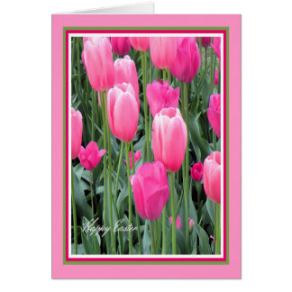 Easter Card for Sister Hot Pink Tulips