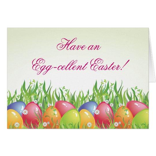 Easter Card - Have anEgg-cellent Easter!