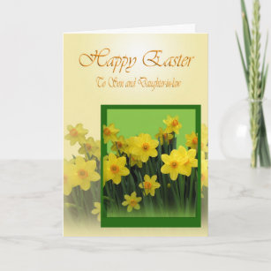 Son and daughter in law easter gifts gift ideas zazzle uk easter card to son and daughter in law negle Images