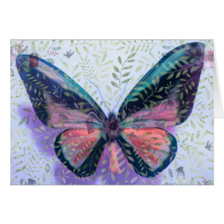 Easter Card with Butterfly Garden Fantasy