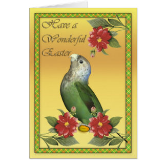 Easter card with Cape Parrot