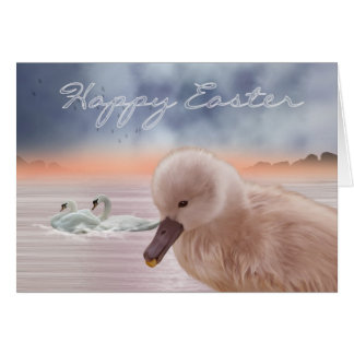 Easter Card With Swans And Signet
