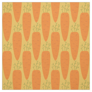 Easter Carrot Yellow Pattern Fabric