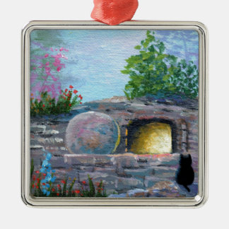 Easter Cat Christian Art Empty Tomb Christmas Ornament