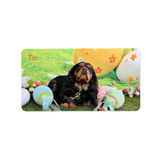 Easter - Cavalier King Charles Spaniel - Charlie Address Label