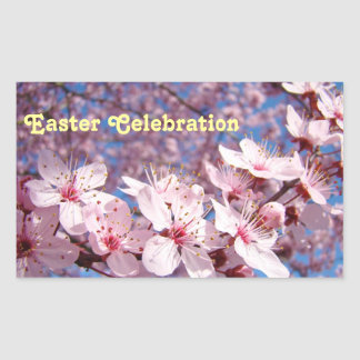 Easter Celebration stickers seals Pink Blossoms