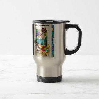 EASTER CHERUB AND CHICKS jpg Coffee Mug