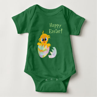 Easter chick baby bodysuit