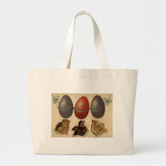 Easter Chick Colored Decorated Painted Egg Jumbo Tote Bag