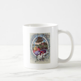 Easter Chick Colored Egg Lily of The Valley Basic White Mug
