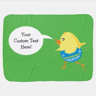 Easter Chick custom baby blanket