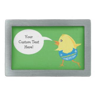 Easter Chick custom belt buckle