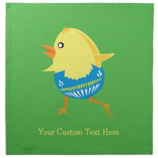Easter Chick custom cloth napkins