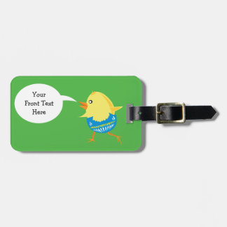 Easter Chick custom luggage tag