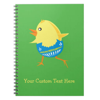 Easter Chick custom notebook