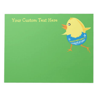 Easter Chick custom notepad