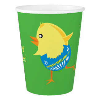 Easter Chick custom paper cups