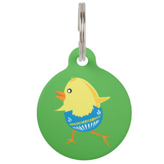 Easter Chick custom pet tags