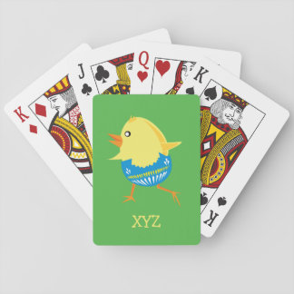 Easter Chick custom playing cards