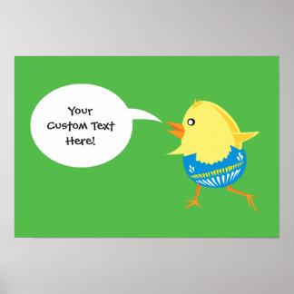 Easter Chick custom poster