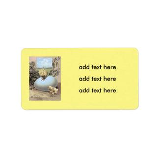 Easter Chick Egg Cotton Address Label