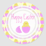 Easter Chick: Happy Easter Stickers