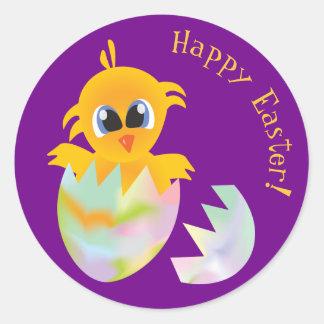 Easter chick round sticker