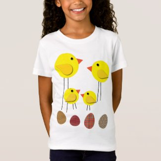 Easter Chicken Family Old Style Simple Look T-Shirt