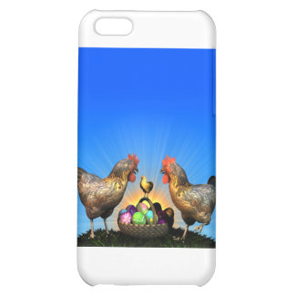 Easter Chicken Family with Easter Eggs iPhone 5C Case
