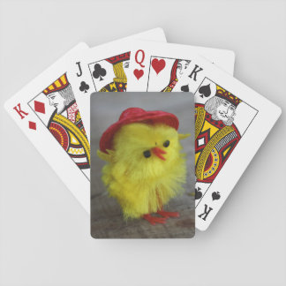 Easter Chicken In Red Hat Playing Cards Gift Idea