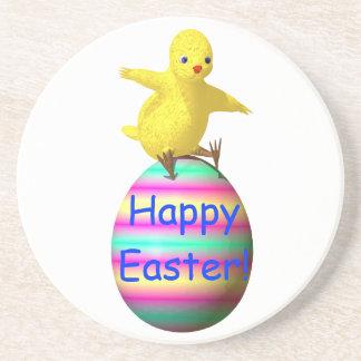 Easter Chicken on Egg Drink Coaster