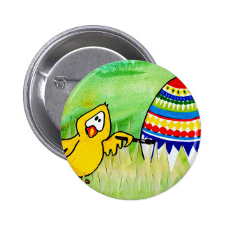 easter chicklet 6 cm round badge