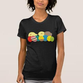 Easter Chicks Cute Cartoon Colorful Eggs Ornate T-Shirt