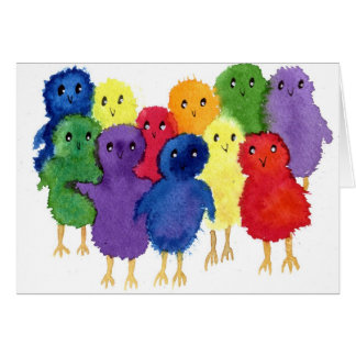 Easter Chicks Greeting Card