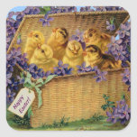 Easter Chicks in a Basket - Sticker