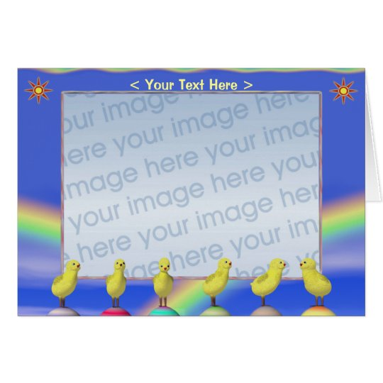 Easter Chicks (photo frame) Card