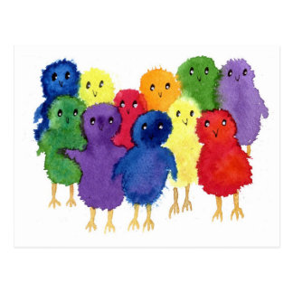 Easter Chicks Postcard