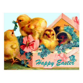 Easter Chicks Postcard