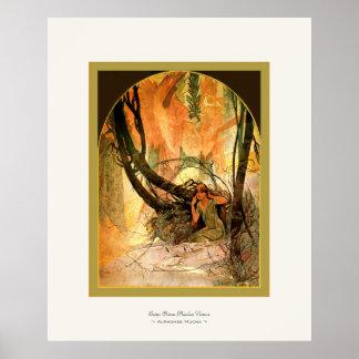 Easter Chimes Awaken Nature ~ Alphonse Mucha Print
